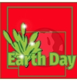 design banner poster for Earth Day vector image vector image