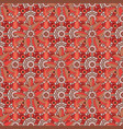 flower pattern seamless on brown orange and red vector image vector image