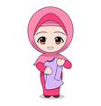 folding homework clothes cute muslim children vector image vector image