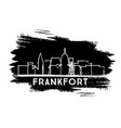 frankfort kentucky usa city skyline silhouette vector image vector image