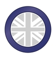 great britain flag emblem icon vector image