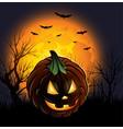 Halloween jack-o-lantern pumpkin background design
