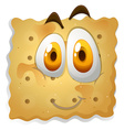 Happy face on biscuit vector image vector image