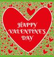 happy valentine day love heart design vector image vector image