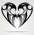 Heart Shape Tattoo Design vector image vector image