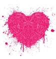 heart with handdrawn pattern vector image vector image