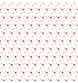 hearts seamless pattern pink background with vector image vector image