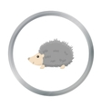 Hedgehog icon cartoon Singe animal icon from the vector image