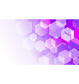 hexagon box on violet gradient abstract background vector image vector image