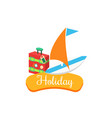 holiday summer vacation vector image vector image