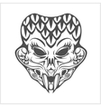 indian demon for T-shirt printed and poster vector image vector image