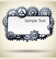 industrial realistic frame vector image