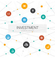 investment trendy web template with simple icons vector image vector image