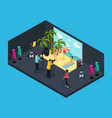 isometric photographing process concept vector image vector image
