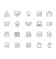 line business and office equipment icons vector image vector image