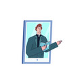 man priest support online video streaming vector image