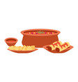 mexican cuisine dishes local vector image vector image