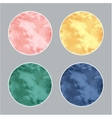 Modern 3d circle in pastel colors vector image vector image