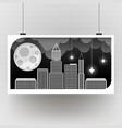 night city dark urban scape night vector image vector image