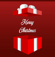 opened red christmas gift box christmas banner vector image