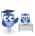 owl teacher desk vector image vector image