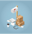 package delivery vector image