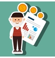person infographics graphics money vector image vector image