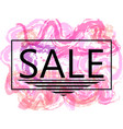 pink sale off sign over grunge brush art paint vector image vector image
