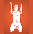 praise god prayer christian praying thank you g vector image vector image