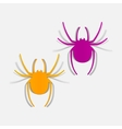 realistic design element spider vector image