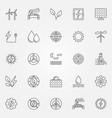 renewable energy icons set vector image