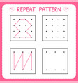 repeat pattern educational games for practicing vector image vector image