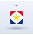 Saba flag icon vector image vector image