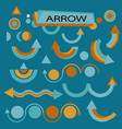 set for various design arrows vector image vector image