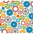 set gear wheel team work design isolated vector image vector image