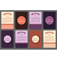 set of invitations vector image vector image