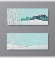 set winter banner collection vector image vector image