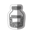 Sticker silhouette half bottle with salt and