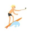 Surfer Taking Selfie vector image vector image