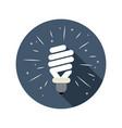 symbol energy saving lamp vector image vector image