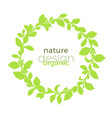 template nature design circle green vector image vector image