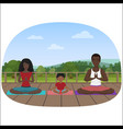 the multi-ethnic family vector image vector image