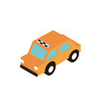transport taxi public vehicle isometric icon vector image vector image