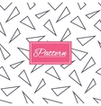 Triangles geometric seamless pattern vector image