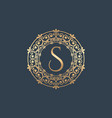 vintage old style logo icon monogram vector image vector image