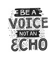 voice not echo vector image