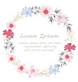 watercolor flower frame vector image