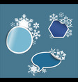 winter labels stickers pointers tags vector image vector image