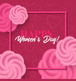 womens day greeting card with roses vector image