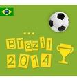 brazil design vector image